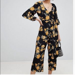 Miss Selfridge Floral Print Jumpsuit ASOS